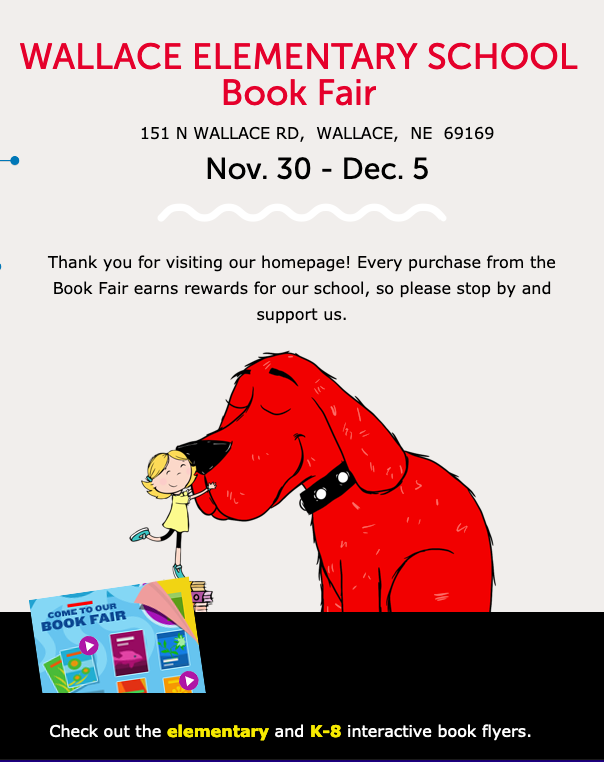 Bookfair dates