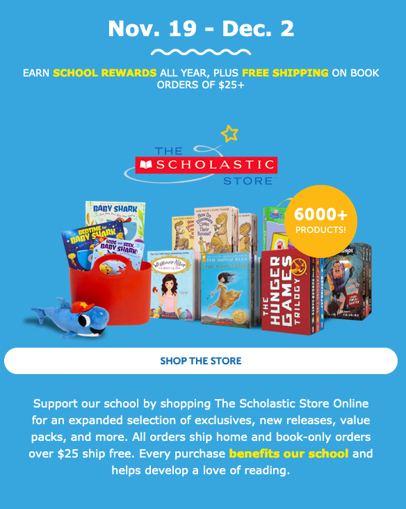 Shop on line at https://www.scholastic.com/bf/ws65r