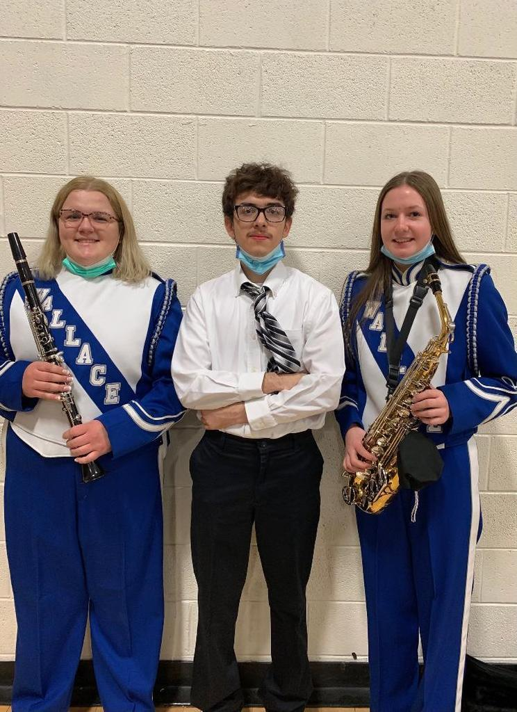 Emma, Jesus, Skyler Class D All State Band