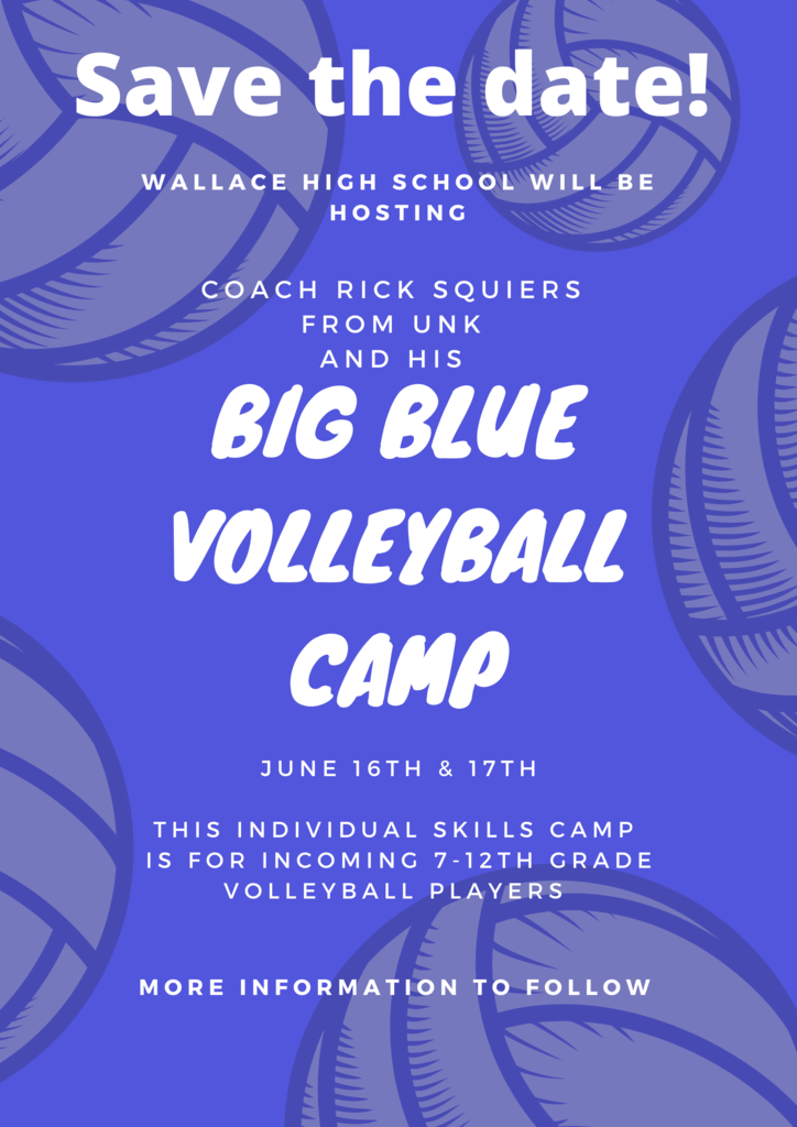 Big Blue Volleyball Camp, June 16th & 17th