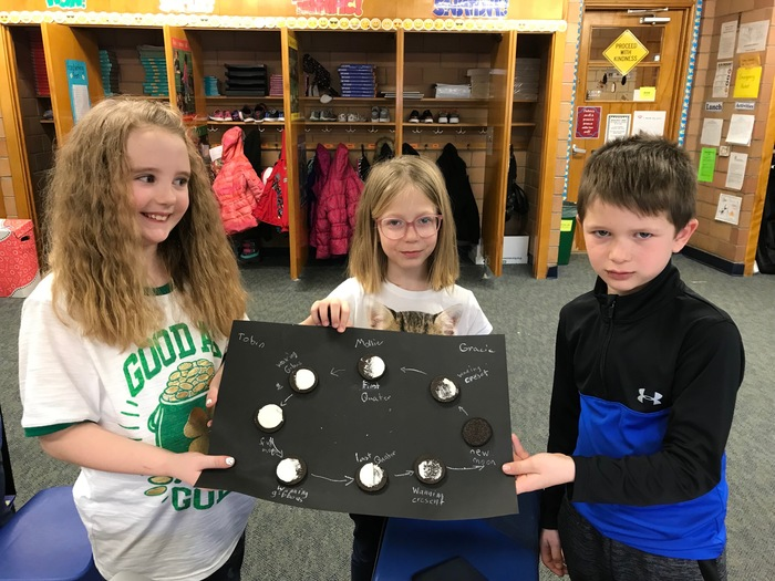 Oreo moon phases in 2nd grade science