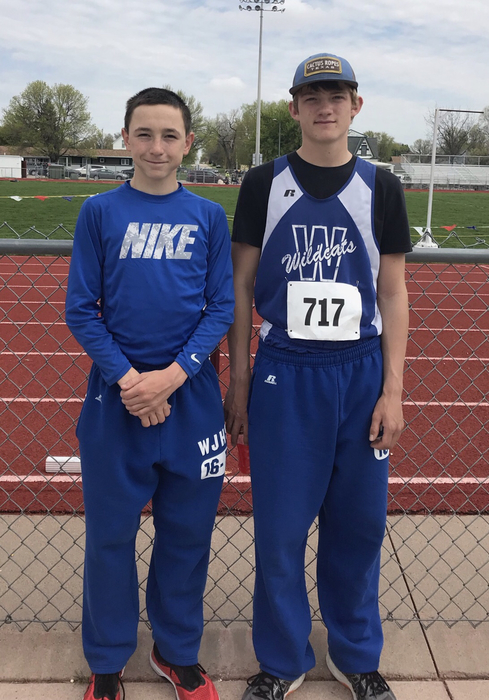 These two represented Wallace at the junior high state track meet. Trey finishes 8th in the 1600. Kyler finishes 7th in the 200 meter hurdles. Both came home with medals. Congratulations!
