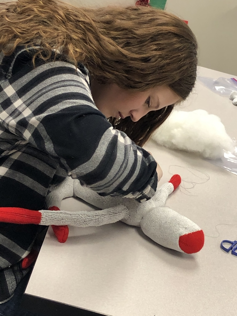 Making sock monkeys