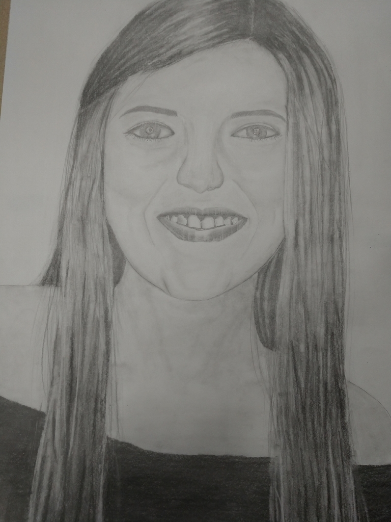 "Quinn Loop, 3rd Honorable Mention, ""Self Portrait"", Graphite Drawing"